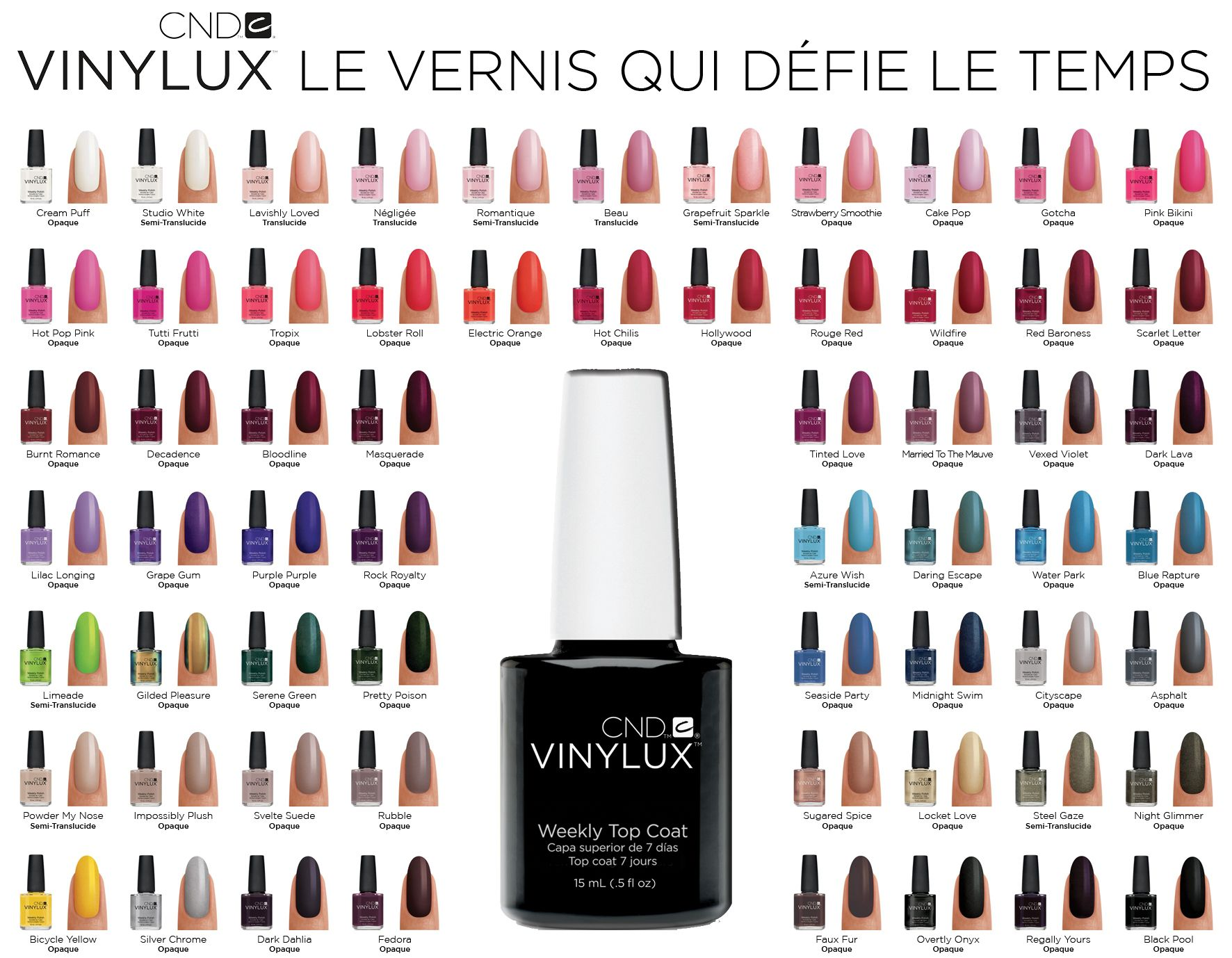 CND VINYLUX now available at Skin Care Institute. It lasts 7 days without chipping! Call to schedule your manicure today.