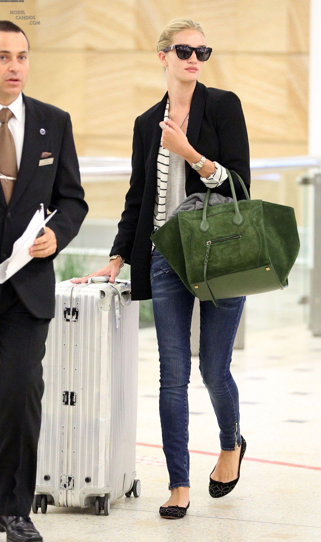 Rosie Huntington-Whiteley - airport chic