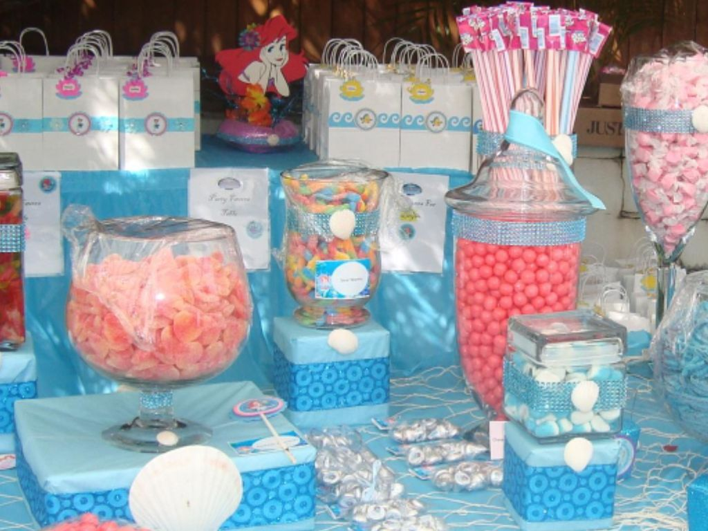 The Little Mermaid Candy Buffet The Little Mermaid Candy Table