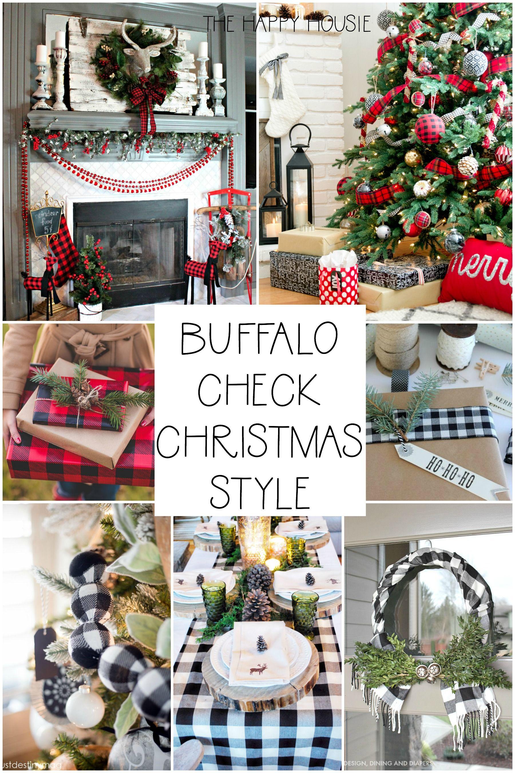 Buffalo Check Christmas Style Series The Happy Housie Buffalo Check Christmas Decor Buffalo Check Christmas Plaid Christmas Decor