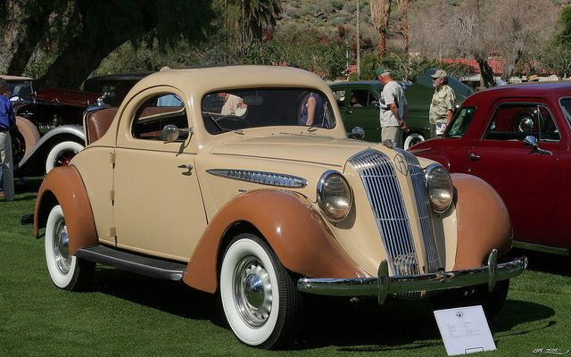 1936 Hupmobile 618 G 2 Door Rumble Seat Coupe Tan Fvr