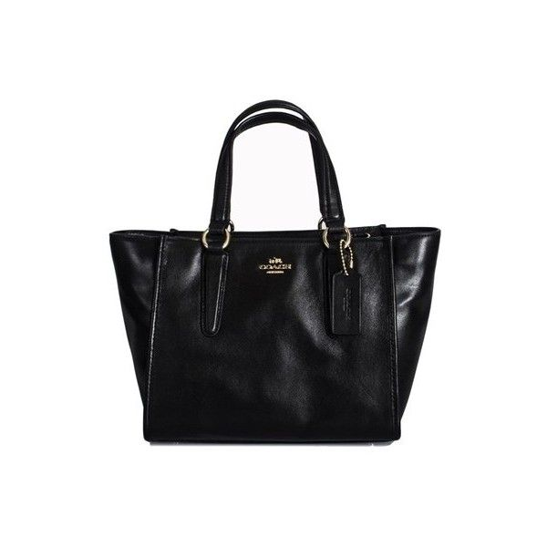 3f90a466cc79 Black leather handbag Coach (615 BAM) via Polyvore featuring bags ...