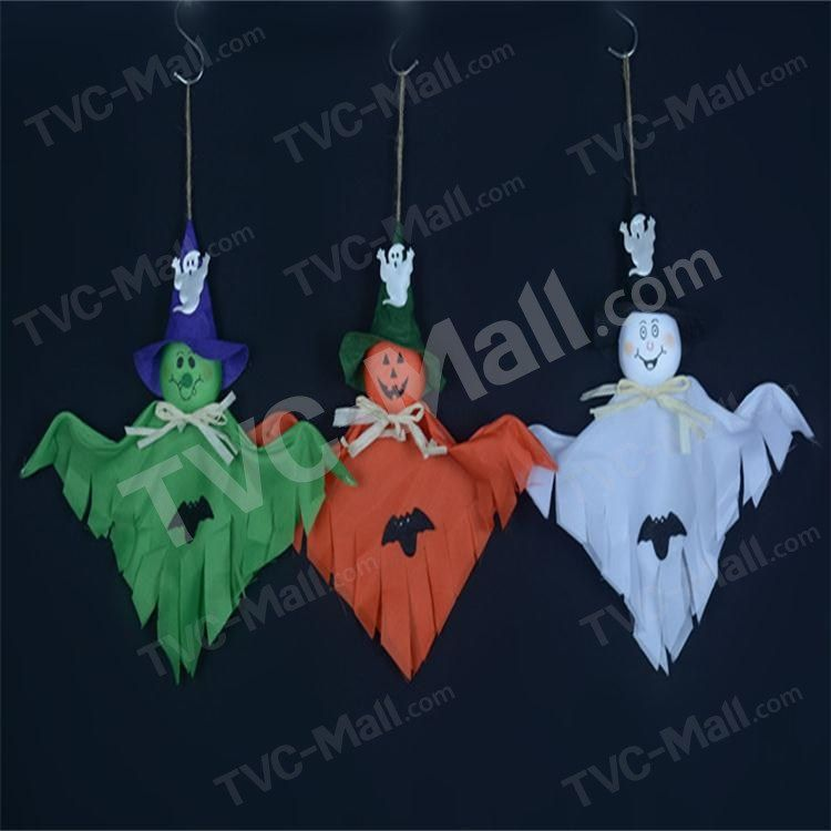 Purchased 3Pcs Pumpkin Ghost Costume Props Hanging Decorations for - halloween party decorations cheap