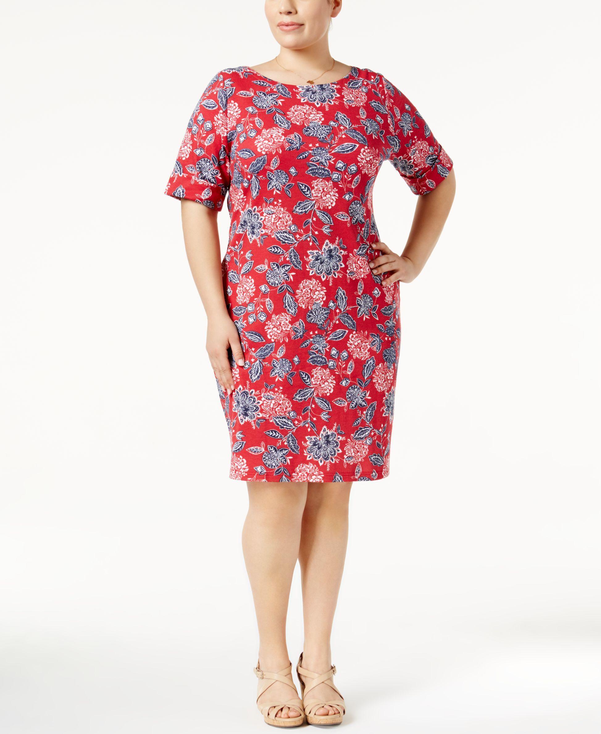 7055970464a5 Karen Scott Plus Size Bandana-Print Dress, Only at Macy's | Products ...