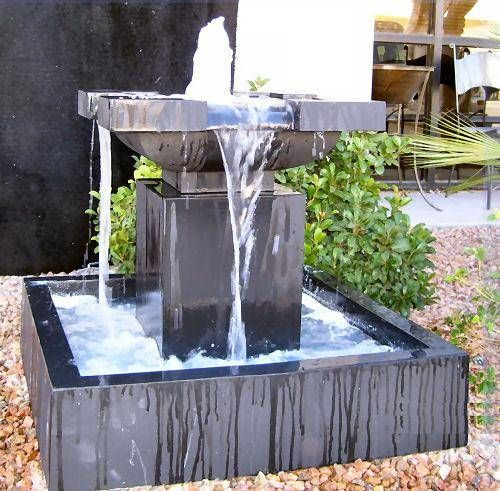 Modern water fountain small or large a water fountain for Contemporary garden ponds