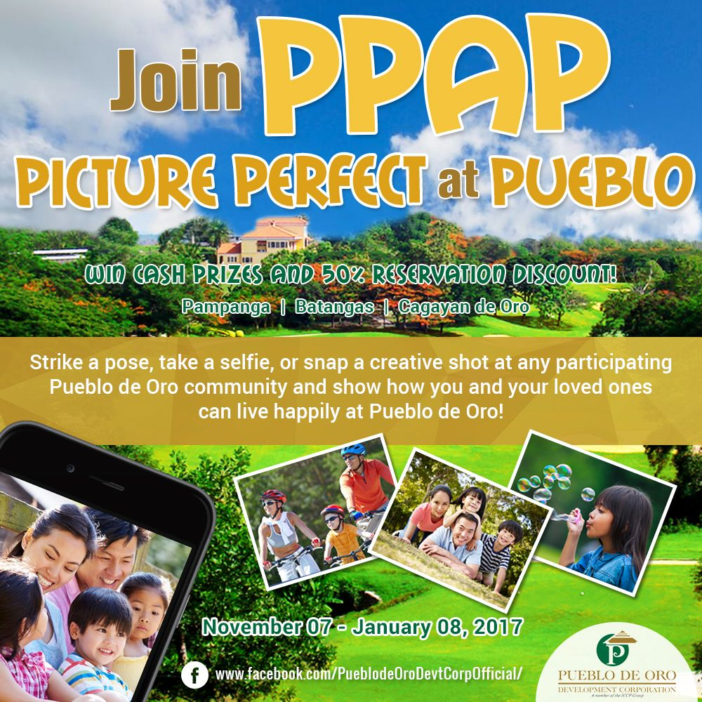 Win Php5,000 with Picture Perfect at Pueblo (PPAP Photo Contest)
