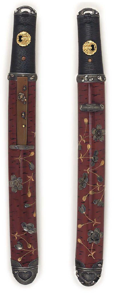 A WELL MOUNTED AIKUCHI - UNSIGNED, KAMAKURA PERIOD (14TH CENTURY)