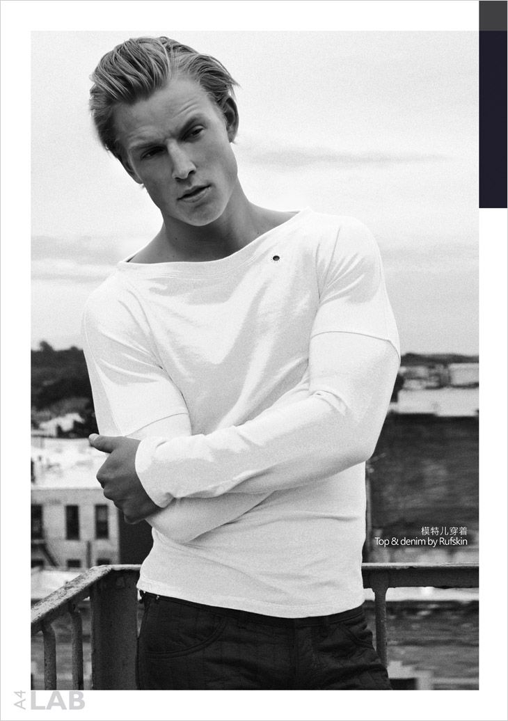 Danish Model Thor Bulow at Soul Artist Management photographed by Horacio Hamlet for Australian LAB A4 Magazine's summer 2013 Issue