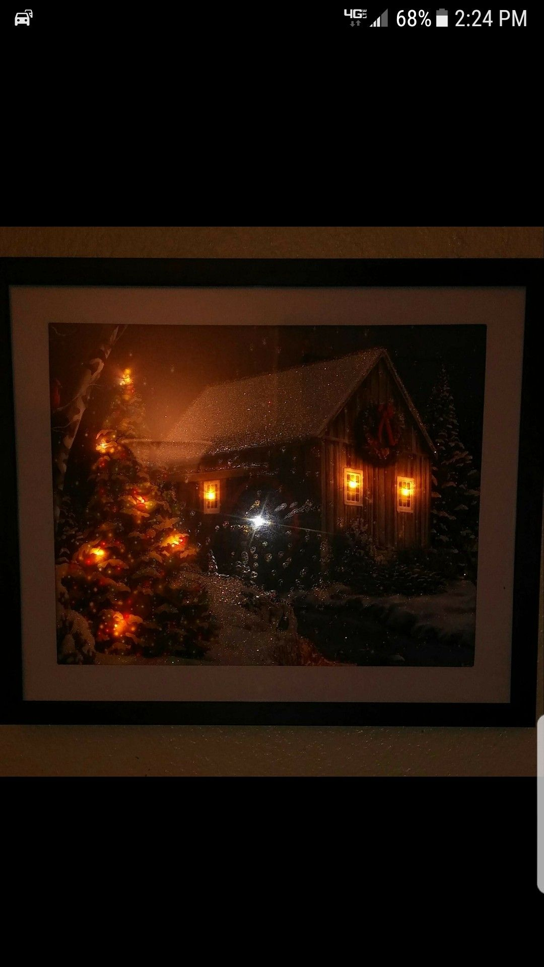 Gift Bag Cut To A Picture Framebattery Powered Led Lights Taped