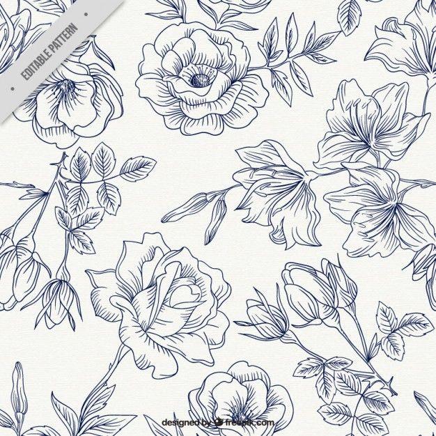 Patrón de rosas de primavera Vector Gratis | vector - png - textura ...
