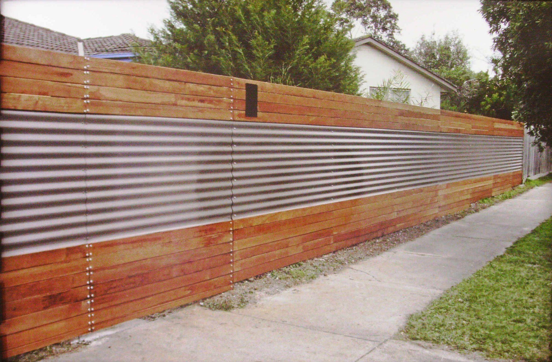 Diy Corrugated Metal Fences: Corrugated Metal Privacy Fence