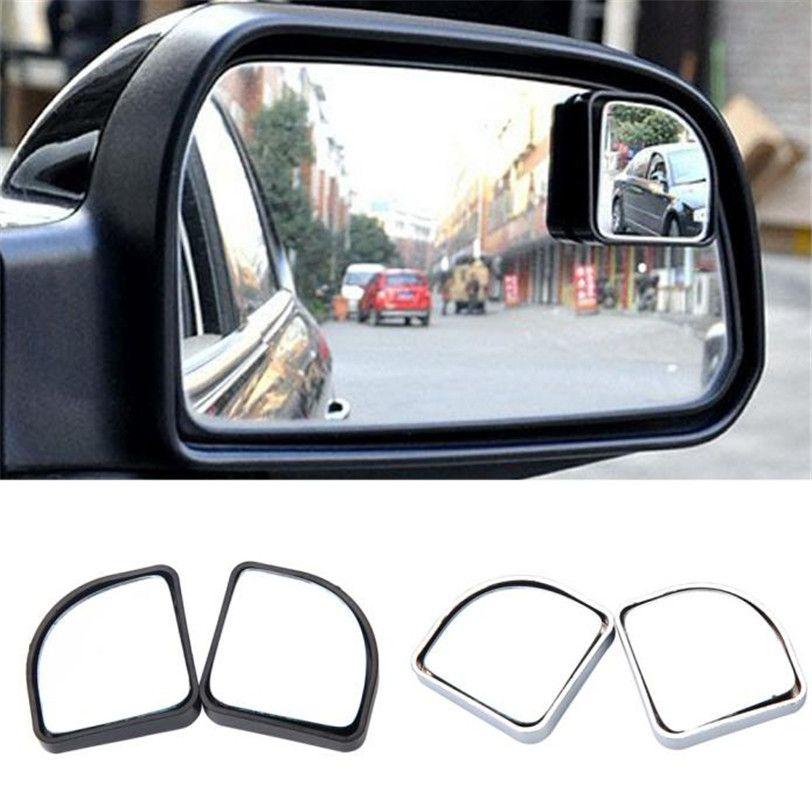 2x Adjustable Blind Spot Rear View Mirror Fan Shape 360 Angel View Mirror New Car Styling High Quality Car Mirror Rear View Mirror Car Accessories