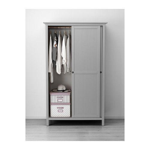 Hemnes Kleiderschrank Mit 2 Schiebeturen Weiss Gebeizt Ikea