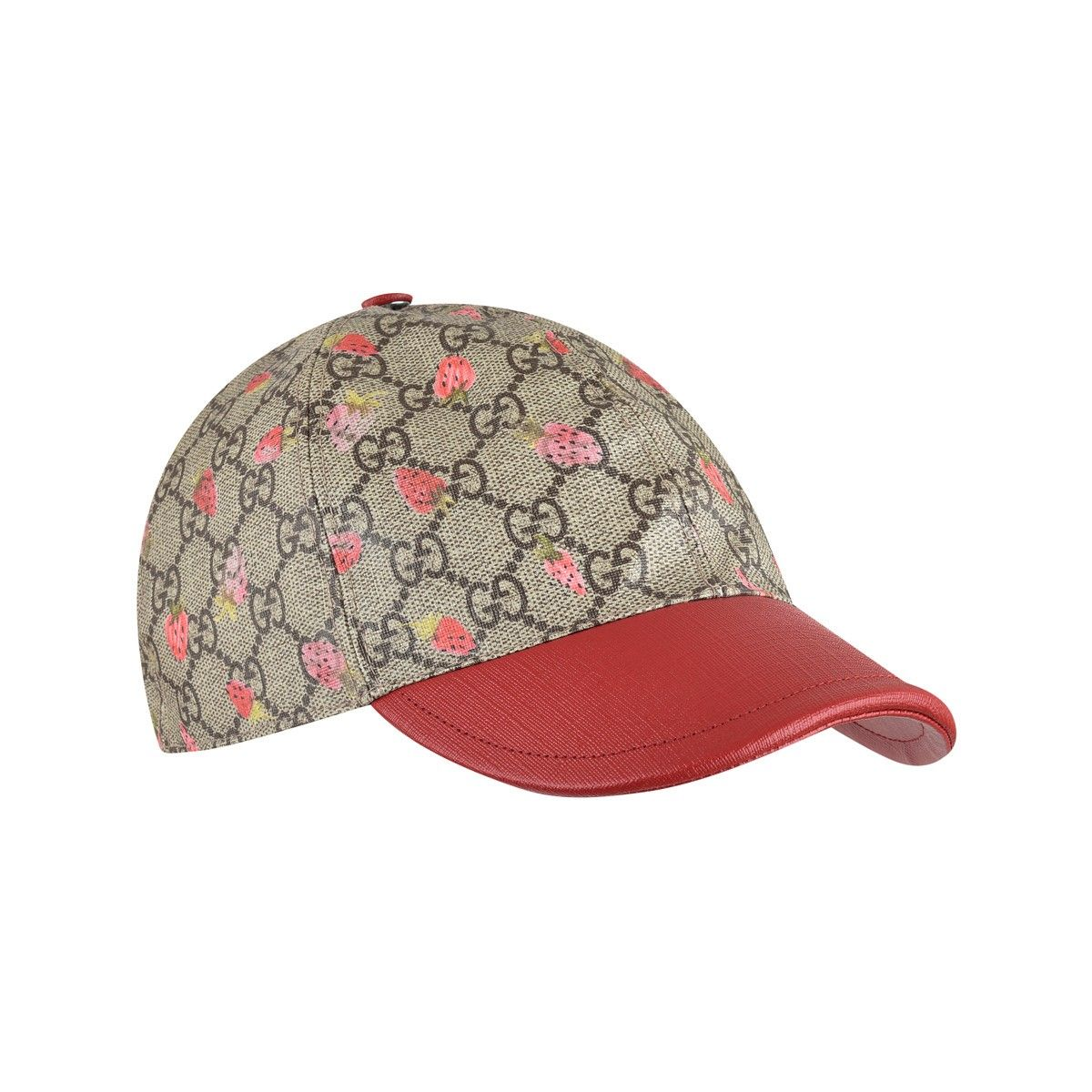 3f5b8ff6d GUCCI Girls Beige GG & Red Strawberry Cap   Baby Girls Outfits ...