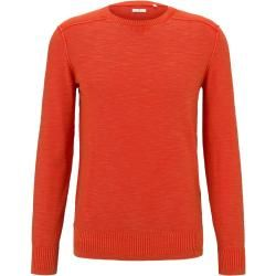 Photo of Tom Tailor Herren Sweater im washed-look, rot, unifarben, Gr.L Tom TailorTom Tailor
