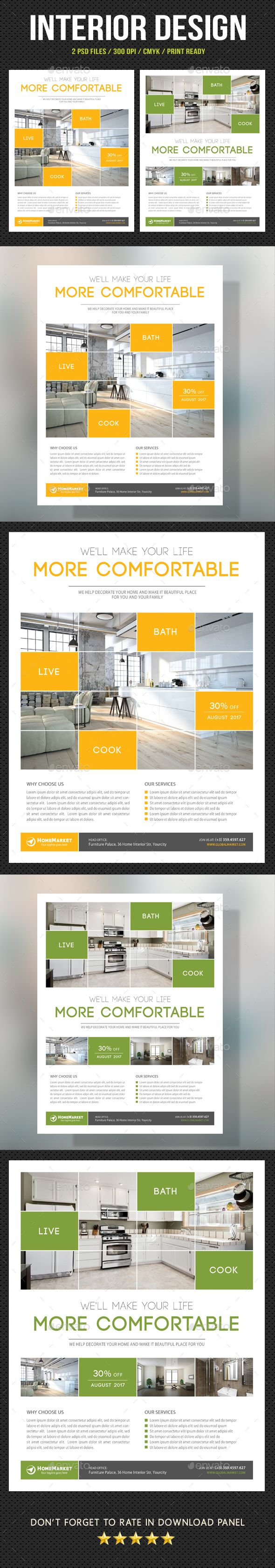 Interior Design Flyer  Business Company Psd Templates And Promotion