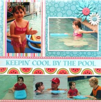 Keepin' Cool by the Pool page created with Carta Bella, Summer Lovin' collection by Teena Hopkins for My Scrappin' Shop.
