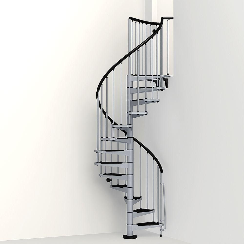 Best Arke Civik 47 In Grey Spiral Staircase Kit Products 400 x 300