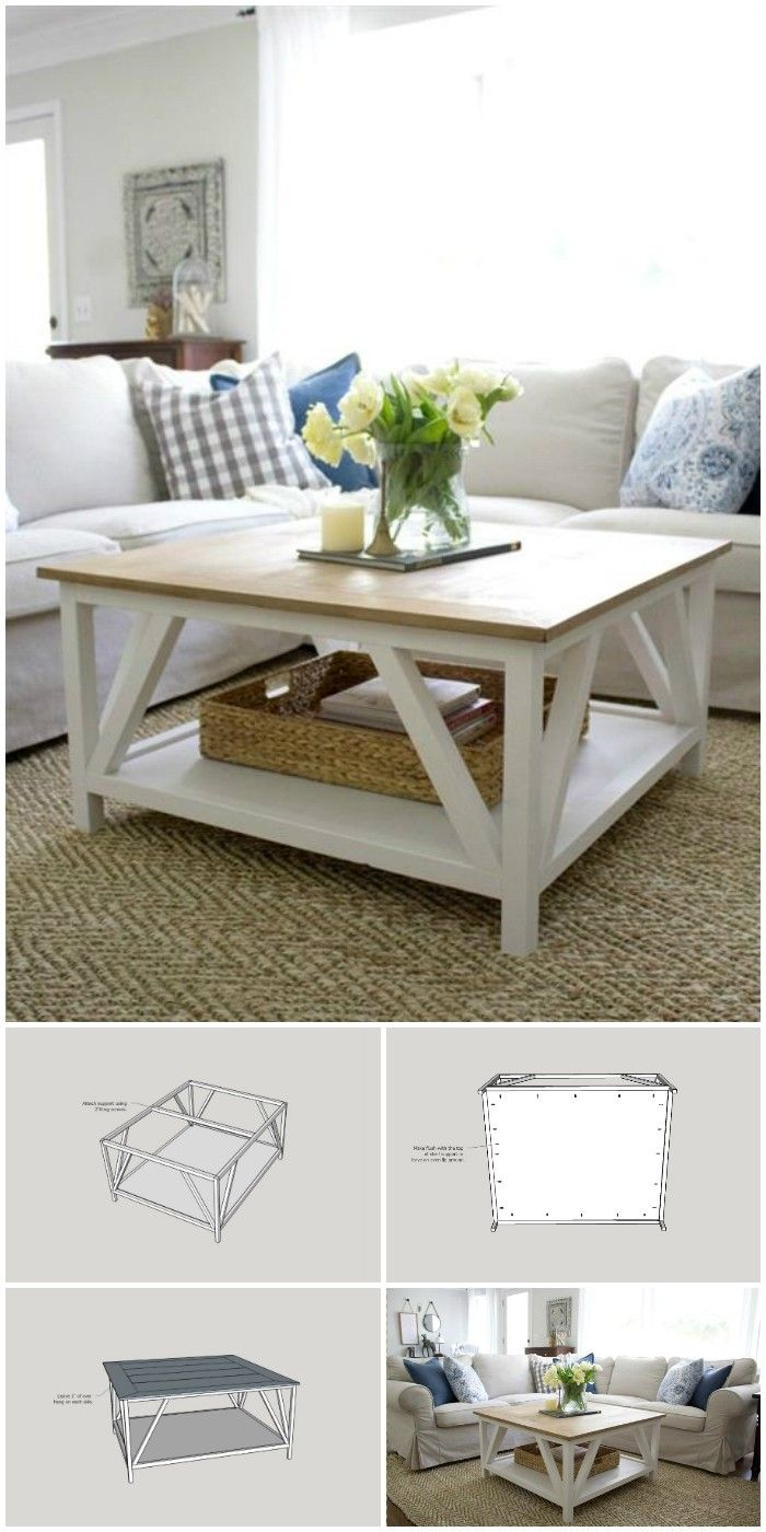 - 20 DIY Farmhouse Coffee Table Ideas In 2020 Diy Farmhouse Coffee