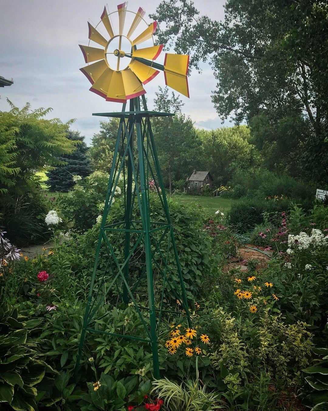 Windmill In My Country Garden Windmill Wind Turbine Garden