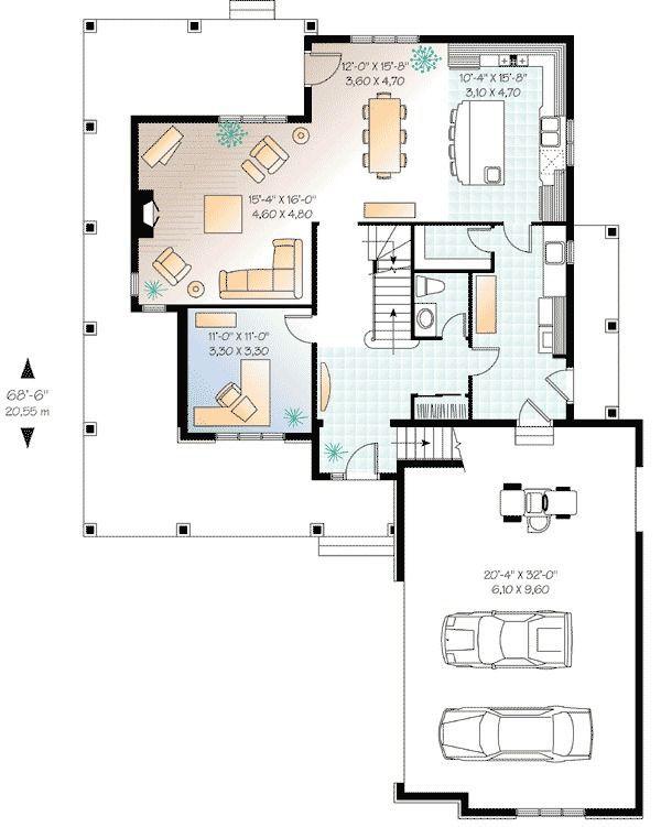 Plan 21121DR: Farmhouse Plan With Wraparound Porch  #21121DR #Farmhouse #Plan #Porch #WrapAround