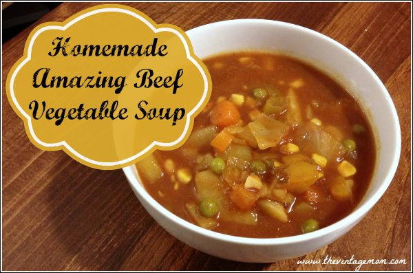 Amazing Beef Vegetable Soup Recipe. This is the most delicious soup ever!