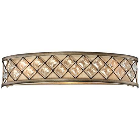 """Jeweled Golden Bronze 25"""" Wide Bathroom Wall Light - #P3318   LampsPlus.com"""