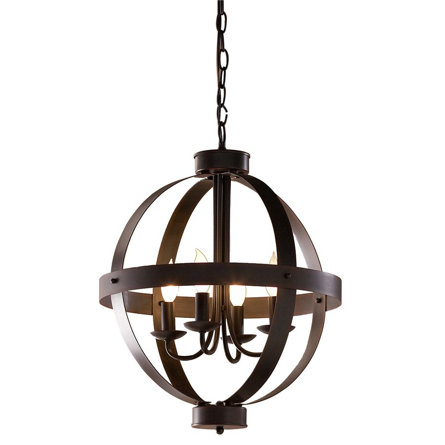 Pendant Lights At Lowes Endearing Allen  Roth 18In W Antique Rust Bronze Pendant Light At Lowes
