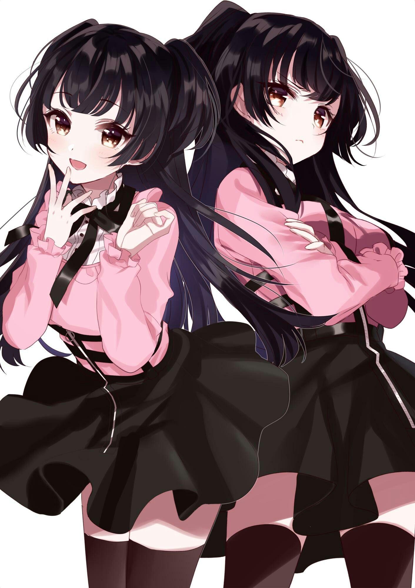 girls Anime twins