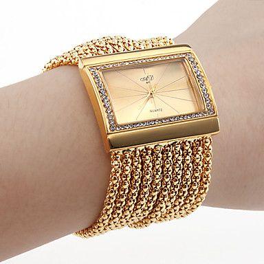 9d8c7f41ca9 bracelete de diamantes estilo relógio de pulso feminino (ouro) - EUR € 24.74