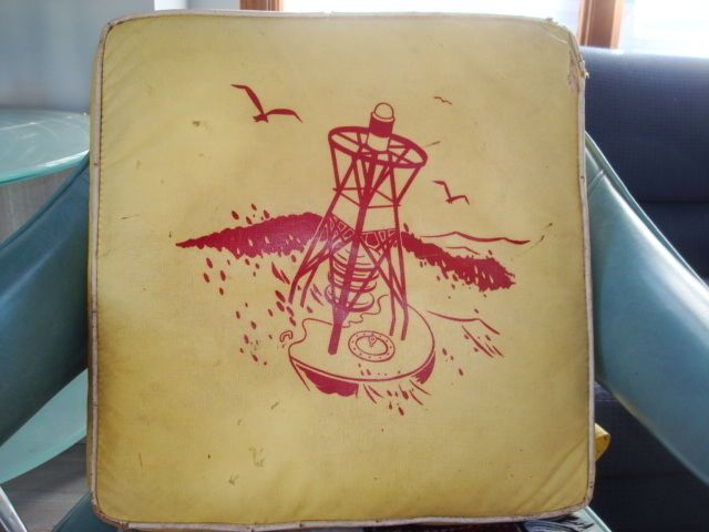 Cool Old Vintage Life Preserver with Red Buoy Yellow Great Graphics ...