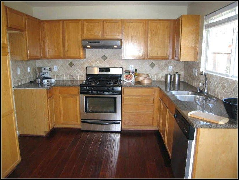 oak kitchen cabinets and dark floors - Google Search (With ... on Maple Kitchen Cabinets With Dark Wood Floors Dark Countertops  id=47846