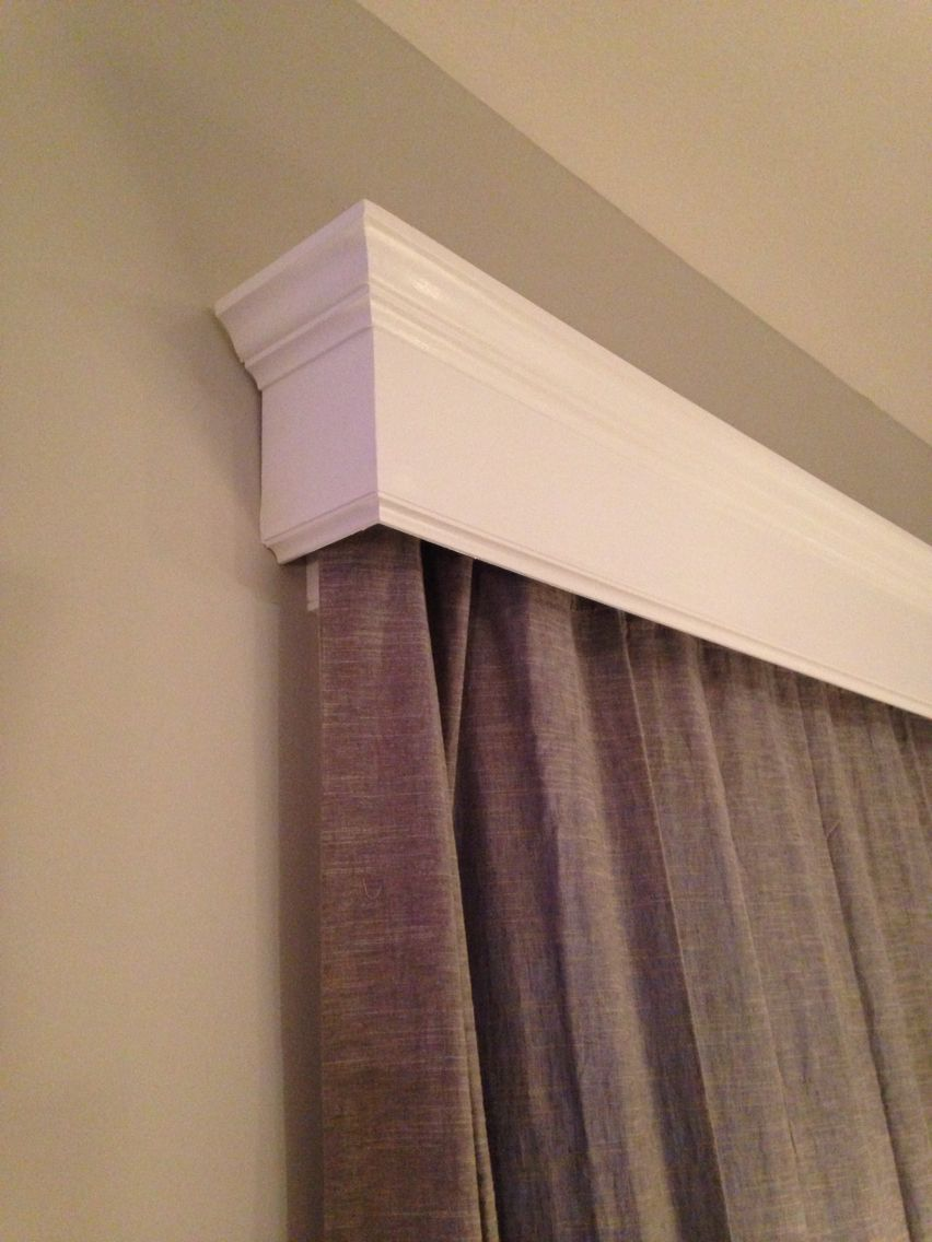 Up Close Cornice Board For Sliding Glass Patio Door Curtains On Rod