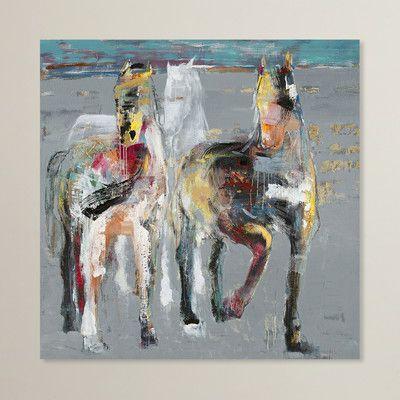 Latitude Run Blatno Wild Horses Wall Decor