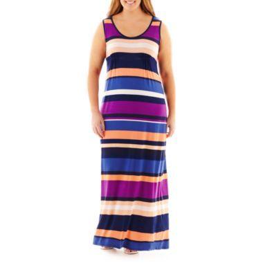 a.n.a® Sleeveless Racerback Maxi Dress - Plus found at ...