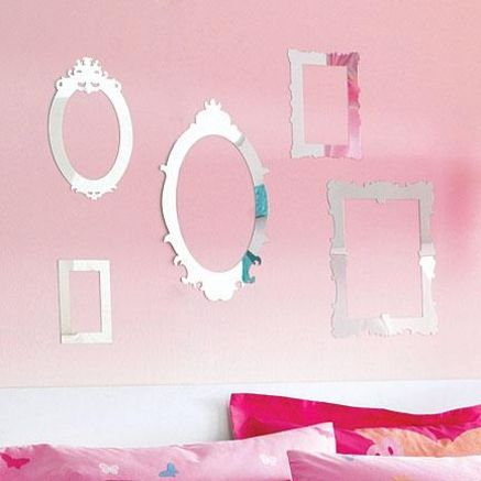 Mirrored frames! Great for Anna's room!