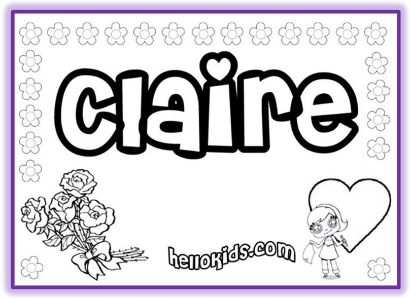 Custom Name Coloring Page