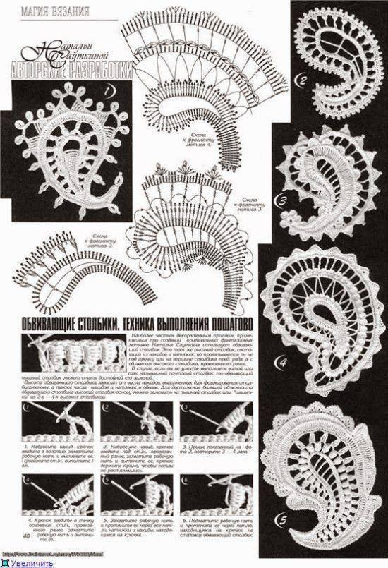 Resultado de imagen para patrones de encaje irlandes | COSTURA ...