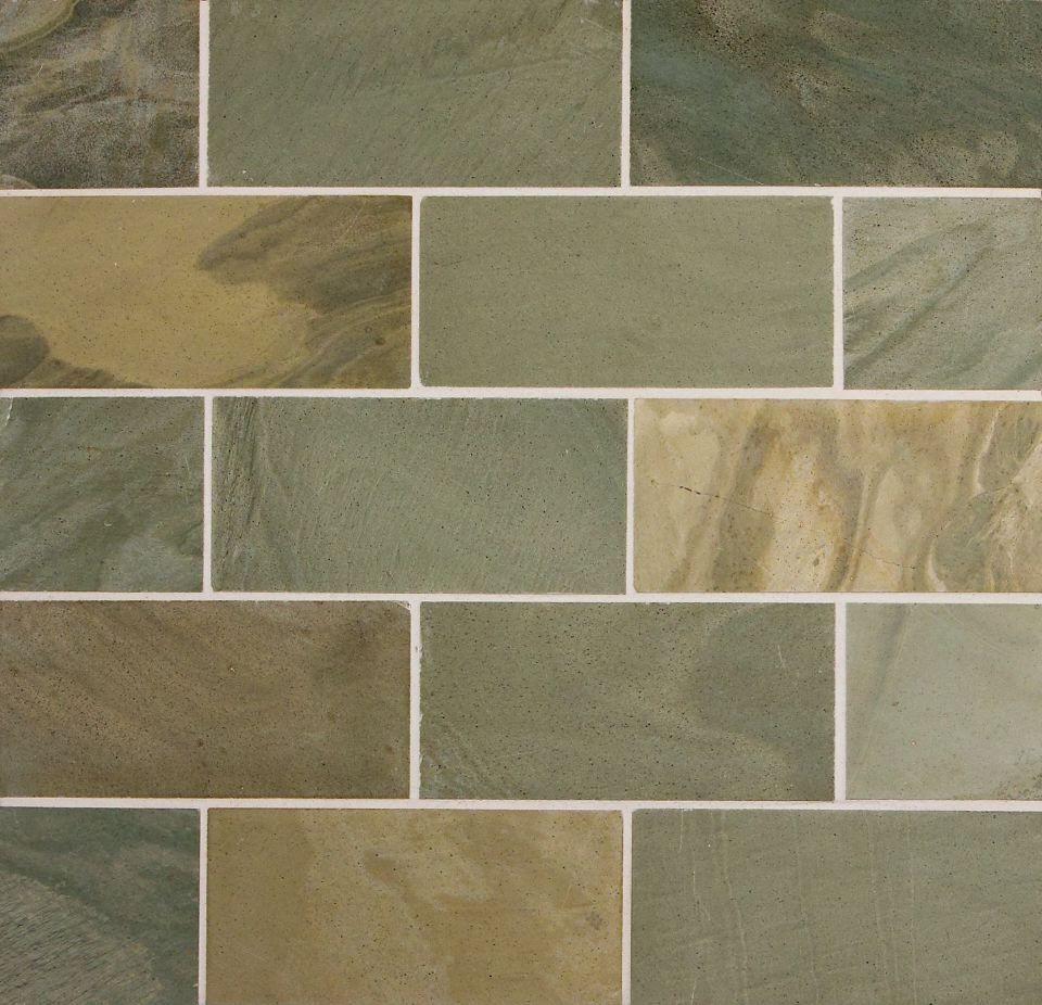 Honed slate kitchen floor tiles