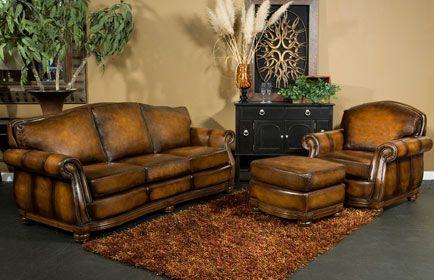 Traditional Leather Sofa Omnia Covington Furniture