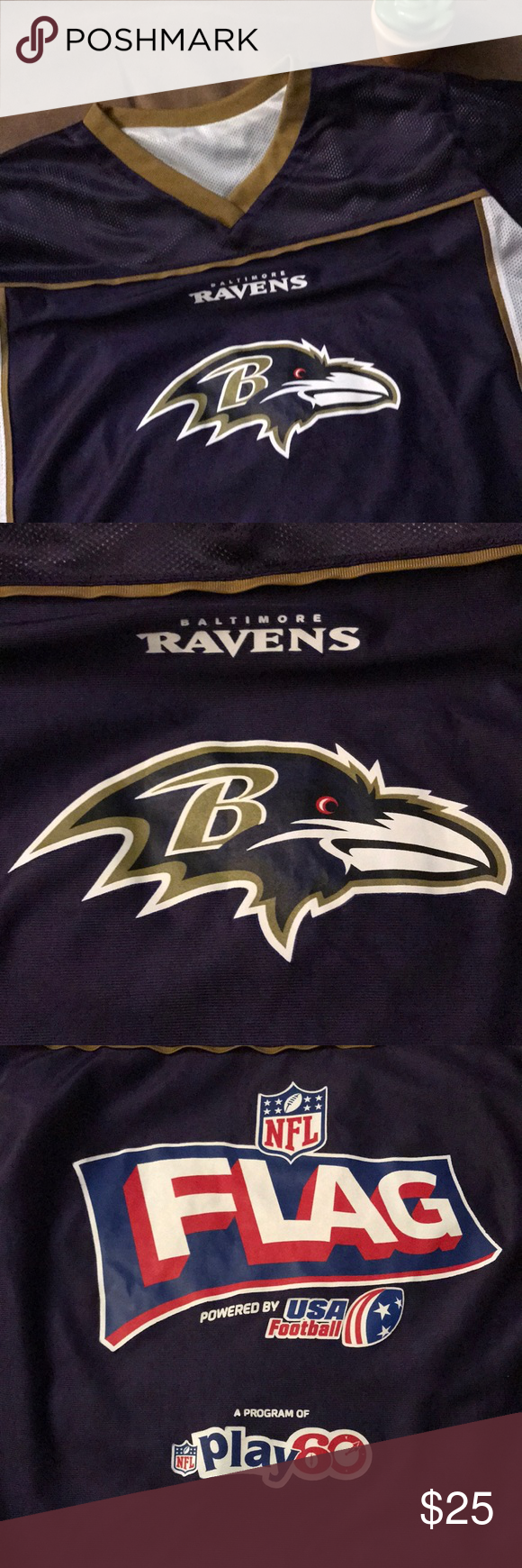 Youth Baltimore Ravens Flag Football Jersey in 2020