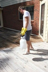 How To Stain A Deck Via Diy On The