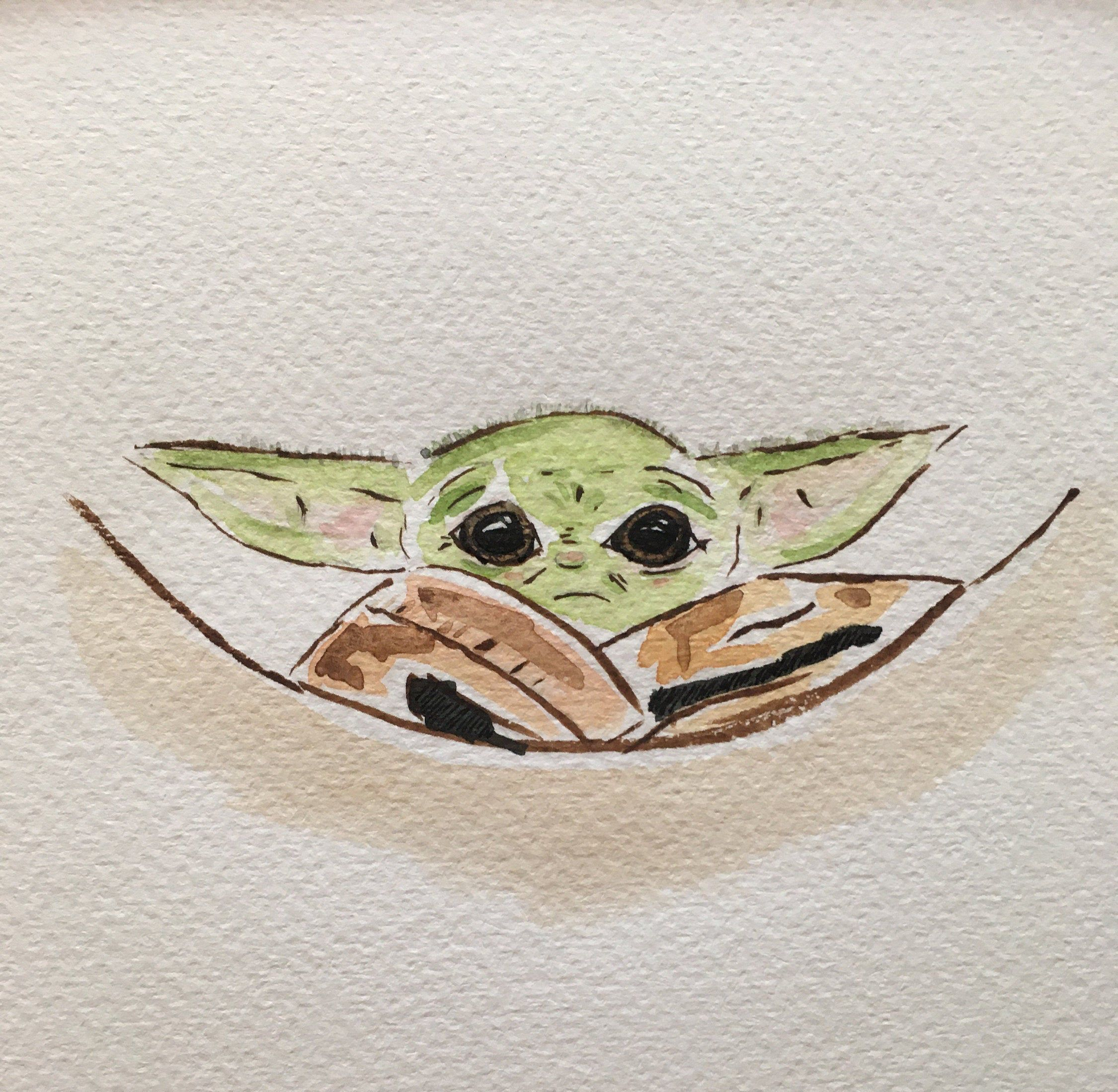 Pin By Grace H On Baby Room Yoda Art Star Wars Drawings Yoda Drawing