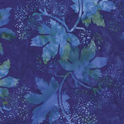 Blue leaves batik