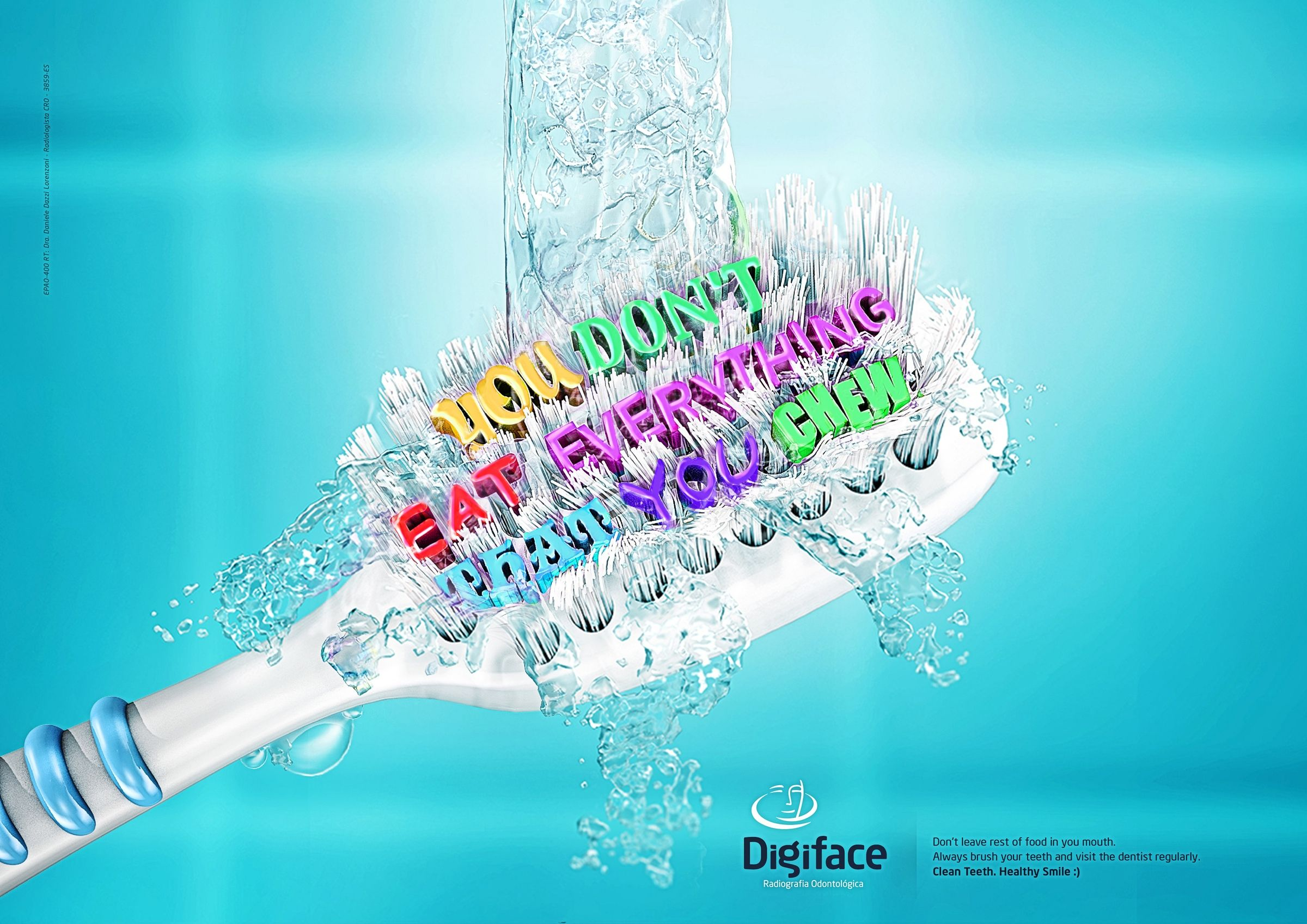 Digiface - Your body needs food but your teeth not