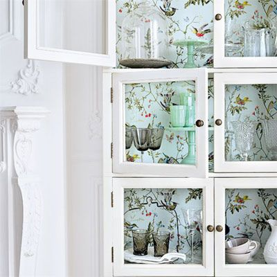 Can T Redecorate Embellish Wallpaper Cabinets Vintage Dining Room Chinoiserie Wallpaper