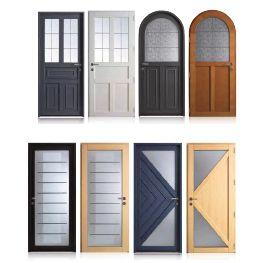 Porte d 39 entr e vitr e grand choix chez votre sp cialiste for Porte entree vitree