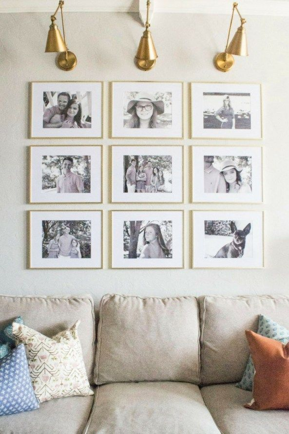 Grid Style Gallery Wall Easy Tricks For Creating A Stunning
