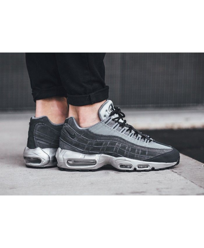Nike Air Max 95 Premium Wolf Grey Trainers | Nike air max 95