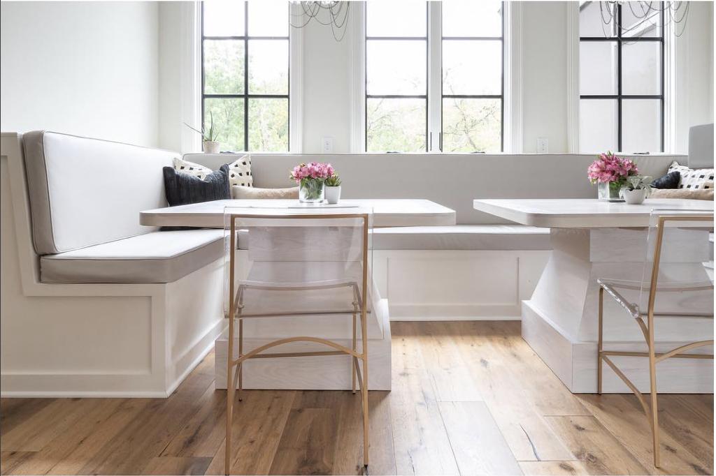 White Cream Wood Texture Banquette Interiordesign Decor